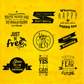 Inspirational and encouraging quote vector design typography Royalty Free Stock Photography