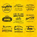 Inspirational and encouraging quote vector design typography Stock Photos