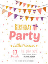 Inspirational happy birthday poster for girl unusual romantic and motivational quotes invitation card stylish in cute style with Stock Photography