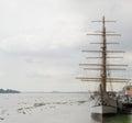 Inspirational image of medieval sailing ship Royalty Free Stock Photo