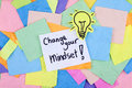 Inspirational Motivational Business Phrase Note Change Your Mindset Royalty Free Stock Photo