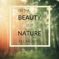 Inspirational quote on blurred background Royalty Free Stock Photos