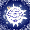 Inspirational quote about winter.All I want for Christmas is you Royalty Free Stock Photo