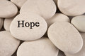 Inspirational stone close up of with engraved word hope Royalty Free Stock Images