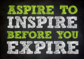 Inspire concept on chalkboard written Royalty Free Stock Photography