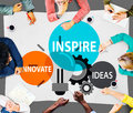 Inspire ideas innovate imagination inspiration concept Stock Photography