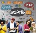 Inspire Inspiration Creative Motivate Imagination Concept Royalty Free Stock Photo