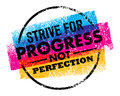 Inspiring motivation quote with text Strive For Progress Not Perfection. Vector typography poster design concept Royalty Free Stock Photo
