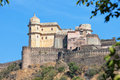 Inspiring view of kumbhalgarh fortress near udaipur india the imposing facade a th century redoubt and a world heritage site Royalty Free Stock Photos