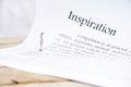 Inspriation text focus word