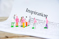 Inspriration text focus word background