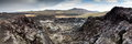 Instable geologic area in volcano Royalty Free Stock Photo