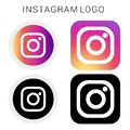 Instagram icon logo with black & white and vector file