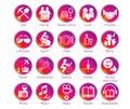 Instagram Stories circle icons set