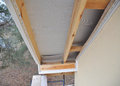 Install Soffit. Roofing Construction. Soffit and Fascia is Usually Constructed of Vinyl, Wood or Aluminum.
