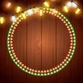 Installation of Christmas lights decoration