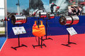Installation of combined fire extinguishing st petersburg jul on the international maritime defence show imds on jul at lenexpo Royalty Free Stock Photos