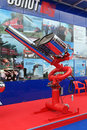 Installation of combined fire extinguishing st petersburg jul on the international maritime defence show imds on jul at lenexpo Stock Image