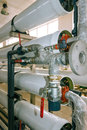 Installation of industrial membrane devices Royalty Free Stock Photo