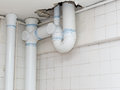 Installation of sanitary pipes Royalty Free Stock Photo