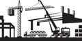 Installing crane on construction site