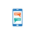Instant messaging client for smartphones icon vector, sms chat solid logo illustration, pictogram isolated on white.