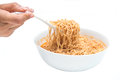 Instant noodle quickly cooking for eat cuisine Stock Photo