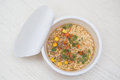 Instant noodle quickly cooking for eat cuisine Stock Photography