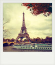Instant photo of  The eiffel tower Royalty Free Stock Photo