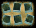 Instant photo frames Royalty Free Stock Images