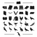 Institute, school, training and other web icon in black style.house, library, shop icons in set collection. Royalty Free Stock Photo