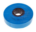 Insulating adhesive tape blue isolated on white background Royalty Free Stock Photo