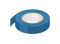 Insulating tape drawing of a blue Stock Photo