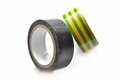 Insulating tape this is a view of on white background Stock Photos