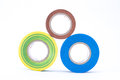 Insulating tapes colorful tape on white background Stock Image