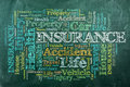 Insurance chalckboard Stock Images
