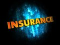 Insurance digital background golden color text on dark blue Royalty Free Stock Photography
