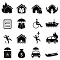 Insurance icon set Stock Photo