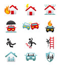 Insurance icons over white background illustration Royalty Free Stock Photography