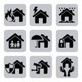 Insurance icons over white background vector illustration Stock Photo