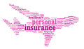 Insurance info-text graphics Stock Photography