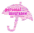 Insurance info-text graphics Stock Image