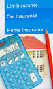 Insurance; life, car and home. Royalty Free Stock Photography