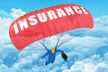 Insurance parachute Stock Photography