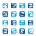 Insurance risk and business icons vector icon set Royalty Free Stock Image
