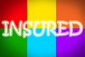 Insured concept text idea color Royalty Free Stock Photography