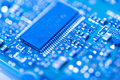 Integrated circuit modern close up Royalty Free Stock Images