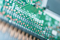 Integrated circuit modern close up Royalty Free Stock Photos
