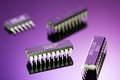Integrated circuits set of digital ics Royalty Free Stock Photo
