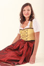 Integrated woman in Bavaria Royalty Free Stock Photography